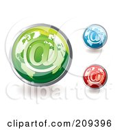 Royalty Free RF Clipart Illustration Of A Digital Collage Of Colorful Global Email Icons