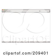 Royalty Free RF Clipart Illustration Of A Gray Internet Web Browser With A Blank Screen by michaeltravers