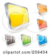Royalty Free RF Clipart Illustration Of A Digital Collage Of Colorful Badge Icons by michaeltravers