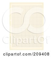 Royalty Free RF Clipart Illustration Of A Sheet Of Grungy Aged Graph Paper