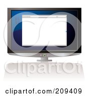 Royalty Free RF Clipart Illustration Of A Computer Screen With A Blank Web Browser by michaeltravers