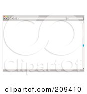 Royalty Free RF Clipart Illustration Of A Gray Internet Web Browser With A Slider Bar And Blank Screen by michaeltravers