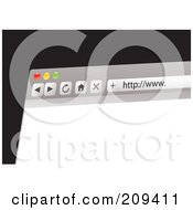Royalty Free RF Clipart Illustration Of A Computer Web Browser With A Blank Page by michaeltravers