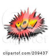 Royalty Free RF Clipart Illustration Of A 3d POW Comic Cloud With A Shadow