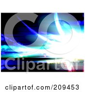 Royalty Free RF Clipart Illustration Of A Bright Fractal Flare And Blurred Lines