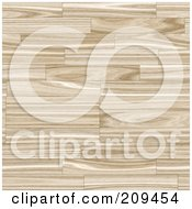 Royalty Free RF Clipart Illustration Of A Seamless Wood Flooring Background by Arena Creative