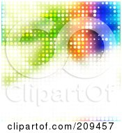 Royalty Free RF Clipart Illustration Of A Bright White And Colorful Halftone Dot Background by Arena Creative