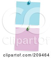 Royalty Free RF Clipart Illustration Of A Digital Collage Of Blue And Purple Memos Pinned