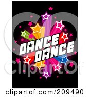 Royalty Free RF Clipart Illustration Of A Starry Dance Explosion Over Black