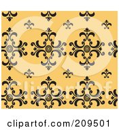 Royalty Free RF Clipart Illustration Of A Seamless Damask Pattern Background