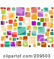 Royalty Free RF Clipart Illustration Of A Funky Seamless Square Pattern Over White