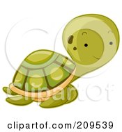 Royalty Free RF Clipart Illustration Of A Cute Baby Sea Turtle by BNP Design Studio