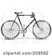 Royalty Free RF Clipart Illustration Of A Retro Black And White Bike by BestVector