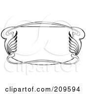 Royalty Free RF Clipart Illustration Of A Retro Black And White Art Deco Styled Border 1