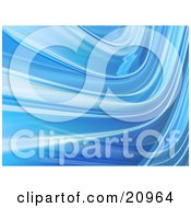 Clipart Illustration Of A Curving Blue Liquid Like Background