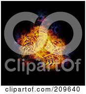 Royalty Free RF Clipart Illustration Of A Blazing Zodiac Crab by Michael Schmeling