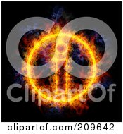 Royalty Free RF Clipart Illustration Of A Blazing Information Symbol by Michael Schmeling