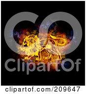 Blazing Leo Zodiac Symbol