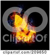 Royalty Free RF Clipart Illustration Of A Blazing Praying Hands by Michael Schmeling