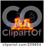 Royalty Free RF Clipart Illustration Of A Blazing Nuclear Facility