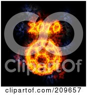 Royalty Free RF Clipart Illustration Of A Blazing 2010 World Cup