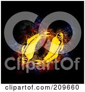 Blazing Pisces Zodiac Symbol