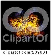 Blazing Capricorn Zodiac Symbol