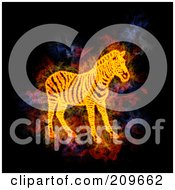 Royalty Free RF Clipart Illustration Of A Blazing Zebra