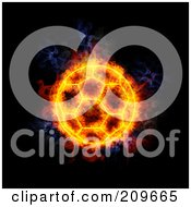 Royalty Free RF Clipart Illustration Of A Blazing Soccer Ball
