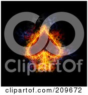 Blazing Spade Playing Card Suit Symbol