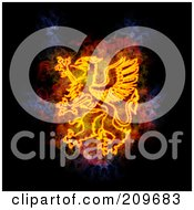 Royalty Free RF Clipart Illustration Of A Blazing Griffin