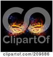 Royalty Free RF Clipart Illustration Of A Blazing Pair Of Eyes by Michael Schmeling #COLLC209686-0128