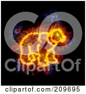 Royalty Free RF Clipart Illustration Of A Blazing Bear by Michael Schmeling #COLLC209695-0128