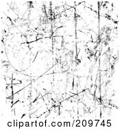 Grungy Deep Scratched Texture Background In Black And White