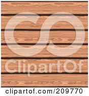 Royalty Free RF Clipart Illustration Of A Background Of Cherry Wood Planks