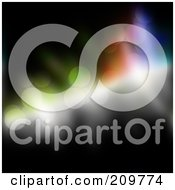Royalty Free RF Clipart Illustration Of Light And Glittering Circles On Black