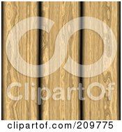 Royalty Free RF Clipart Illustration Of A Background Of Wood Planks