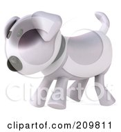 Royalty Free RF Clipart Illustration Of A 3d Bull Terrier Dog Walking Left by Julos
