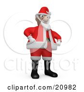 Clipart Illustration Of St Nick In Costume Wearing Black Boots And Holding His Hands At His Hips