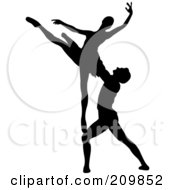 Silhouetted Man And Woman Dancing
