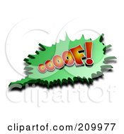 Royalty Free RF Clipart Illustration Of A 3d OOOOF Comic Cloud With A Shadow