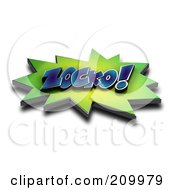 Royalty Free RF Clipart Illustration Of A 3d ZOCKO Comic Cloud With A Shadow