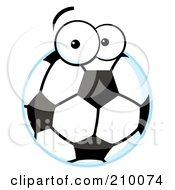 Royalty Free RF Clipart Illustration Of A Soccer Ball With Eyes