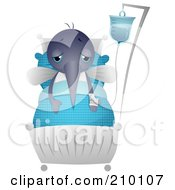 Royalty Free RF Clipart Illustration Of A Cute Mosquito Sick In A Hospital Bed
