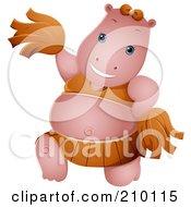 Cute Cheerleader Hippo