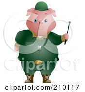 Royalty Free RF Clipart Illustration Of A Cute Pig Soldier by BNP Design Studio