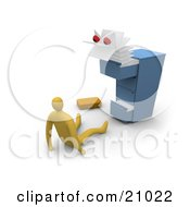 Clipart Illustration Of A Scary Monster Emerging From A Messy Filing Cabinet Scaring A Businessman