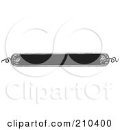 Royalty Free RF Clipart Illustration Of A Retro Black And White Banner With Rounded Edges