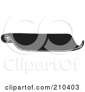 Royalty Free RF Clipart Illustration Of A Retro Black And White Scrolled Banner
