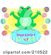 Happy Easter Frog Greeting